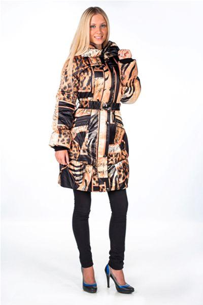 """Категория: Куртки купить Бренд: купить Стеганая куртка  """"Блюз """" с принтом  """"ноты """"..."""