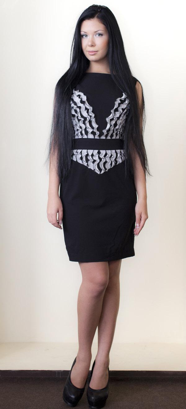 Коктейльные платья из рюш