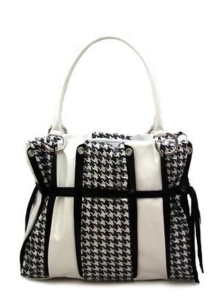 """Женская сумка уникальной черно-белой расцетки  """"гленчик """" составит..."""