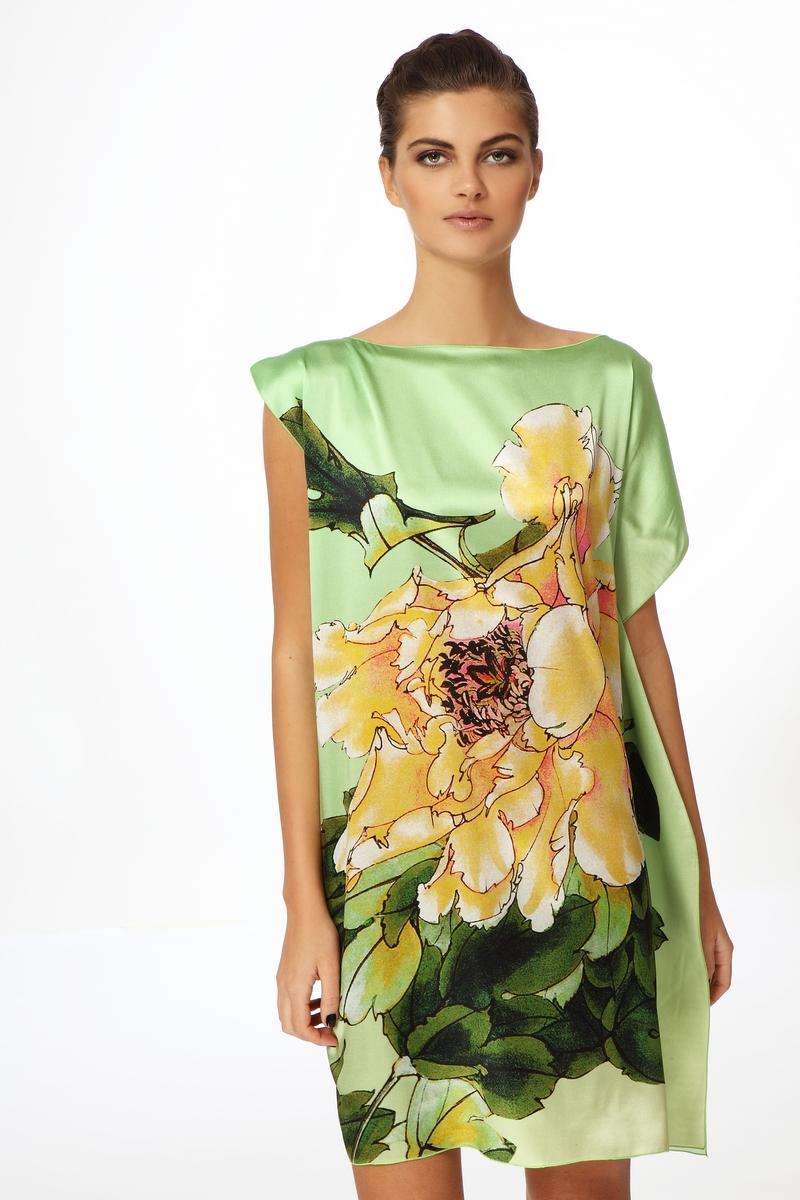 Платье Из Натурального Шелка Купить В Интернет Магазине