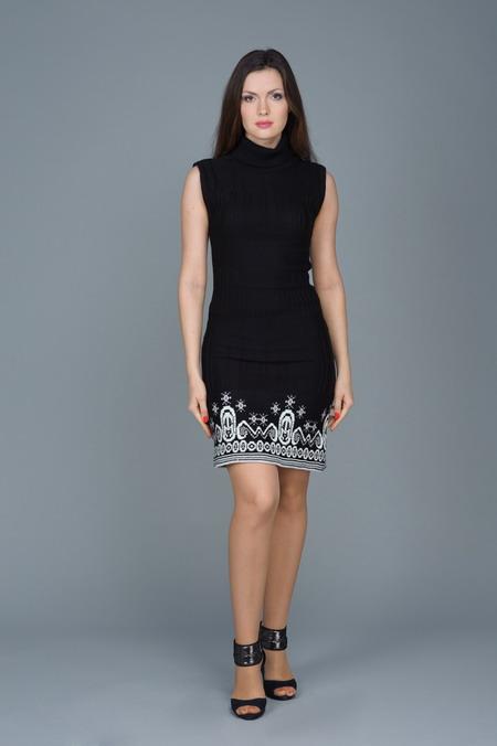 Оригинальное трикотажное платье Remix / 1144.