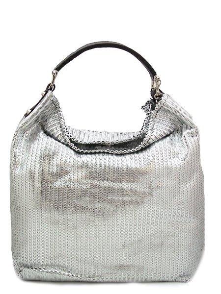 Сумка серебряная кожа.  Новое поступление итальянских сумок коллекции...