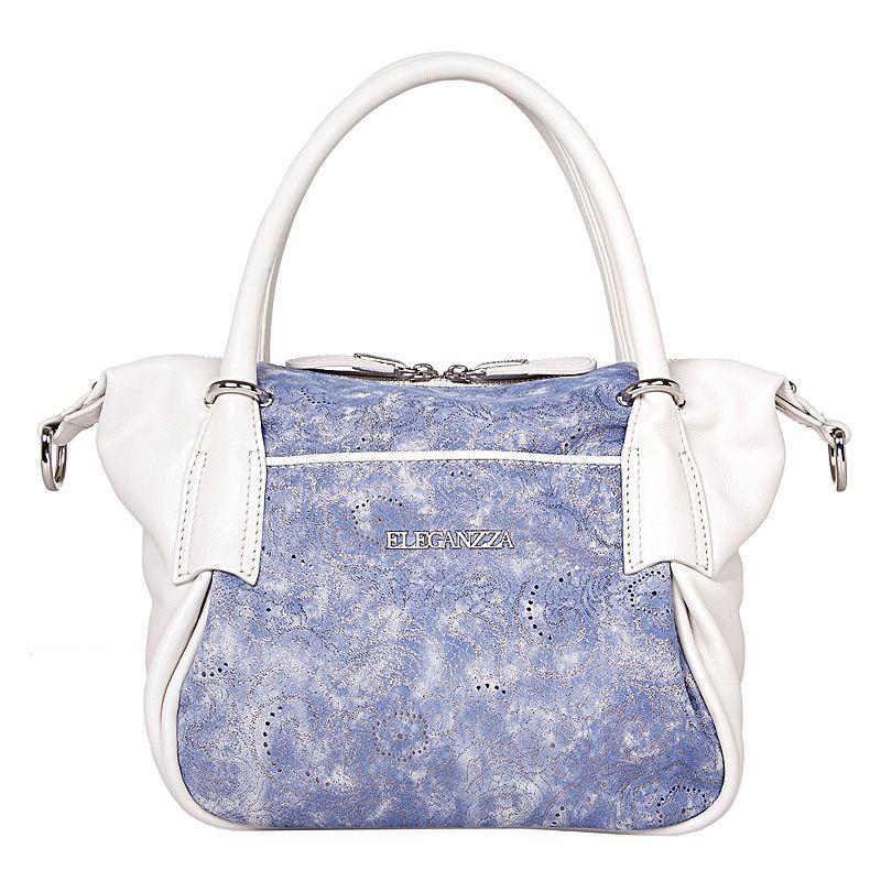 Удобная сумка-мешок из комбинированной кожи.