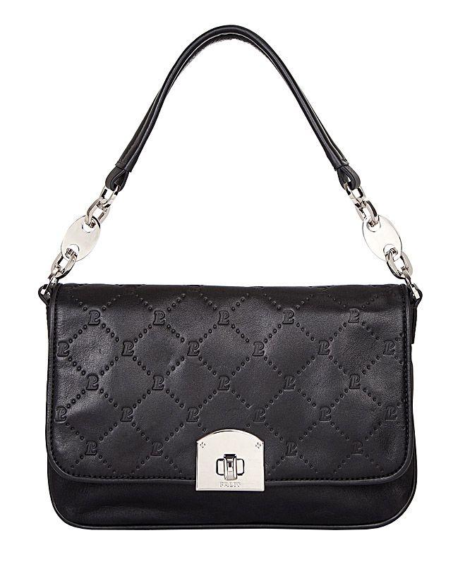 Женская сумка Palio выполнена из натуральной кожи черного Сумка имеет удобный кармашек на молнии на задней стенке.