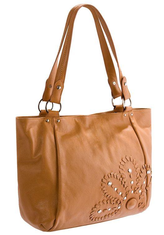 Женская сумка ELEGANZZA выполнена из натуральной кожи песочного цвета.