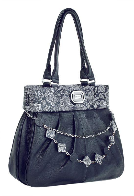 Женская сумка ELEGANZZA изготовлена из натуральной кожи темно-синего...