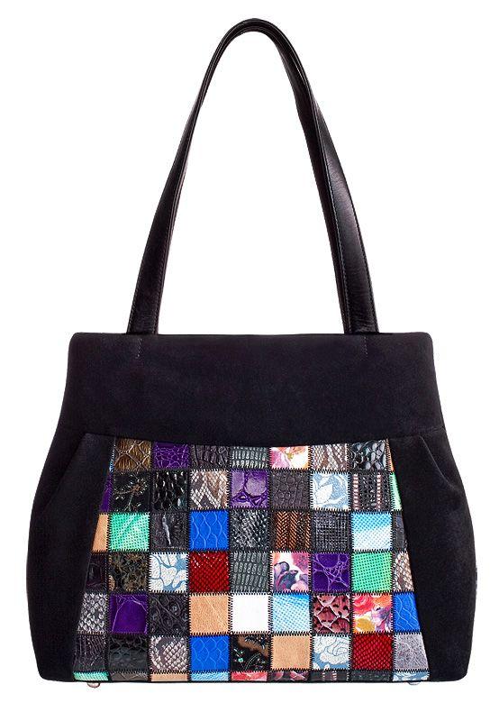 Внимание.  Цветные кусочки кожи на каждой сумке разные.  Каждое...