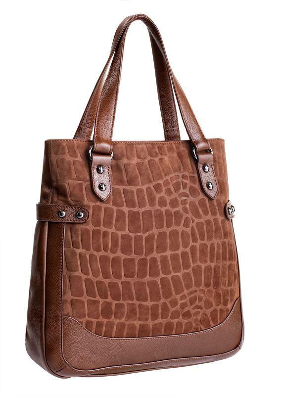 Женская сумка ELEGANZZA изготовлена из натуральной кожи коричневого...