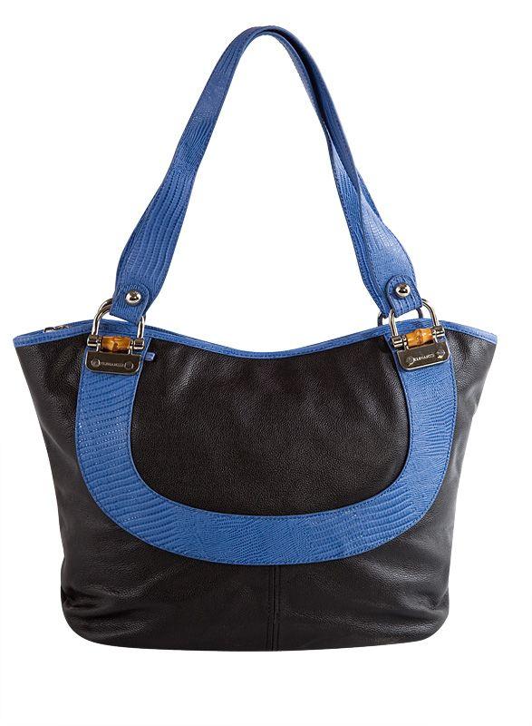 Женская сумка Eleganzza классического черного цвета, выполненная из натуральной кожи, имеет два отделения со...