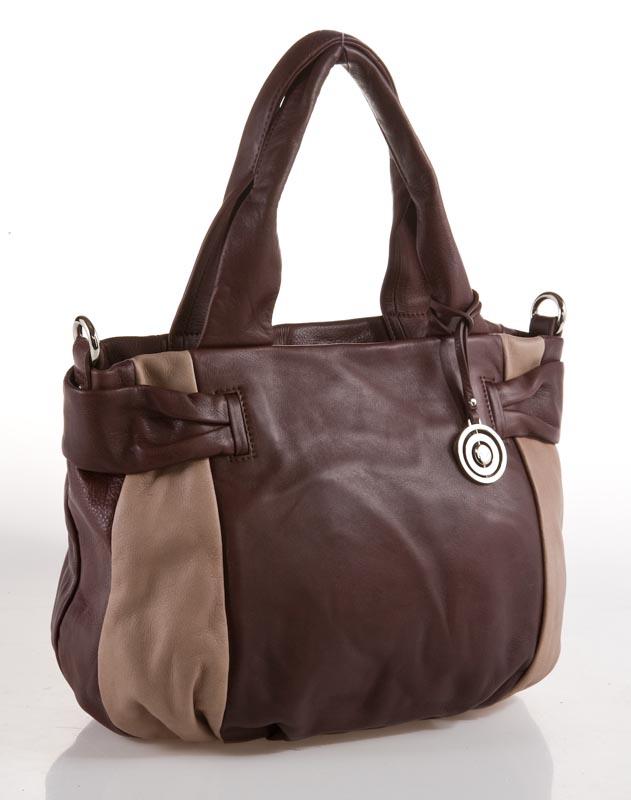 Женская сумка Palio выполнена из натуральной кожи коричнево-вишневого...