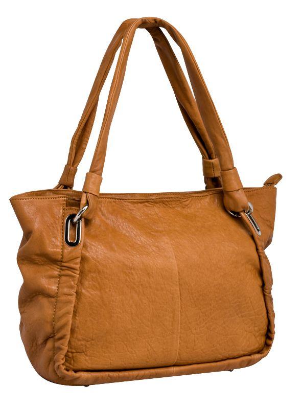 Женская сумка PALIO из натуральной кожи светло-коричневого цвета. .