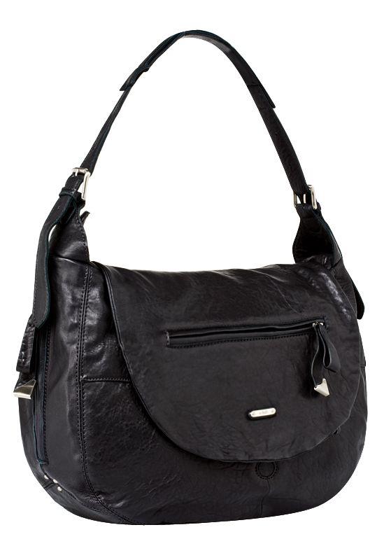 Женская сумка PALIO из натуральной кожи черного цвета. .