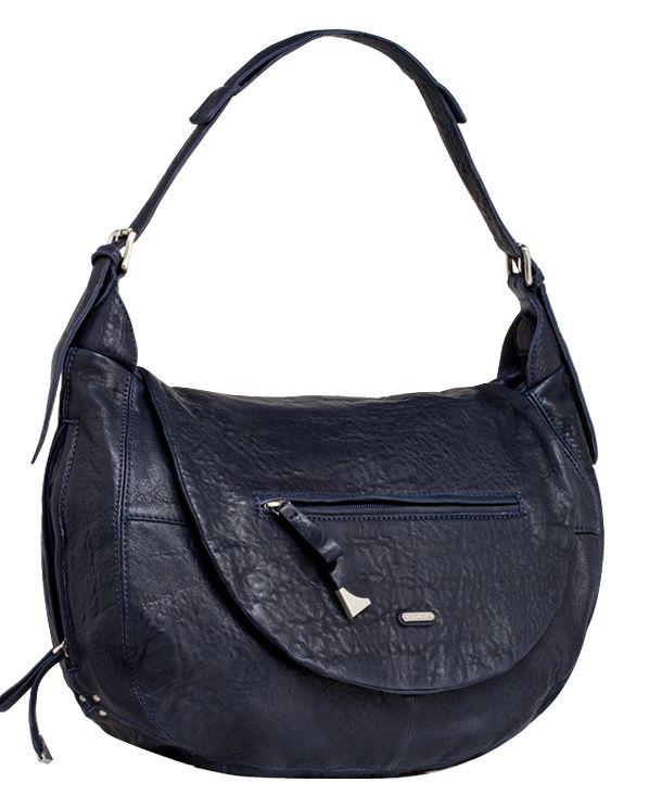 Женская сумка PALIO из натуральной кожи темно-синего цвета. .