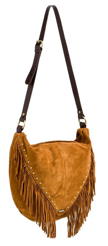 Женская сумка Palio выполнена из натуральной замши песочного цвета.