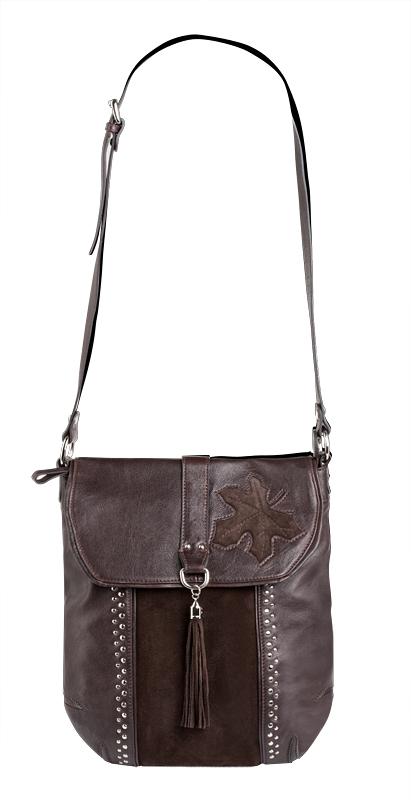 Женская сумка Palio выполнена из натуральной кожи коричневого цвета...