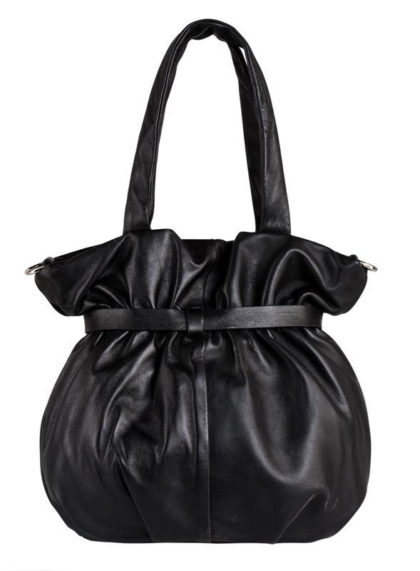 Женская сумка Eleganzza из натуральной кожи черного цвета.