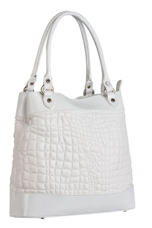 В наличии.  Женская сумка Palio из натуральной кожи белого цвета.