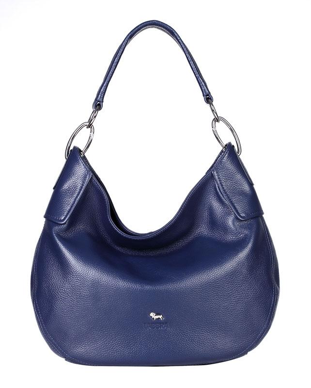 Женская сумка Labbra выполнена из натуральной матовой кожи синего цвета...