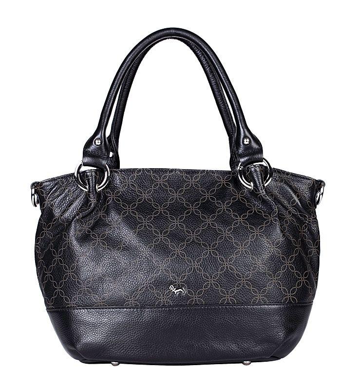 Женская сумка Labbra выполнена из натуральной кожи черного цвета с...