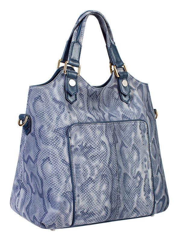 Женская сумка ELEGANZZA выполнена из натуральной кожи серо-голубого...
