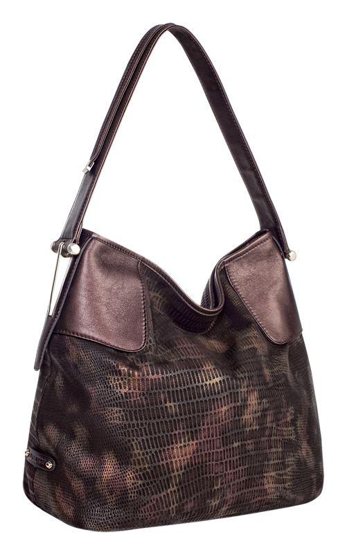 Женская сумка ELEGANZZA выполнена из натуральной кожи коричневого цвета...