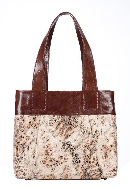 Размер 27х30х11 см. Женская сумка торговой марки Eleganzza выполнена из натуральной кожи коричнево-рыжего цвета с...