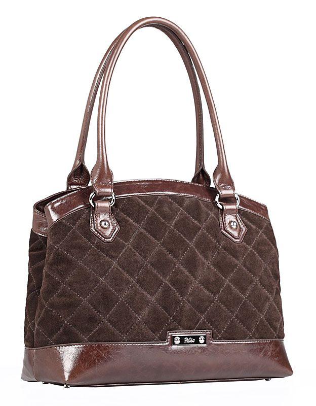 Женская сумка Palio выполнена из натурального велюра темно-коричневого...