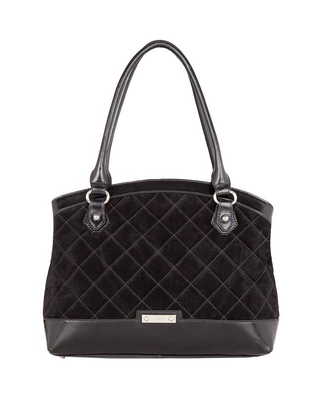 Женская сумка Palio выполнена из натурального велюра черного цвета с...