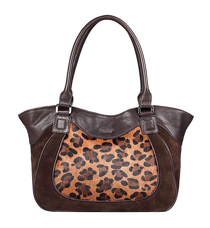 Женская сумка Palio выполнена из натуральной кожи темно-коричневого цвета.