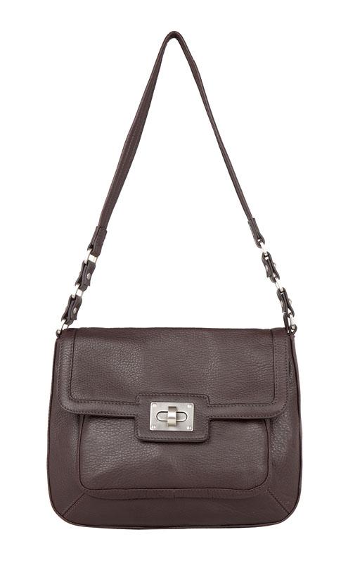 Женская сумка Palio выполнена из натуральной кожи коричневого цвета.