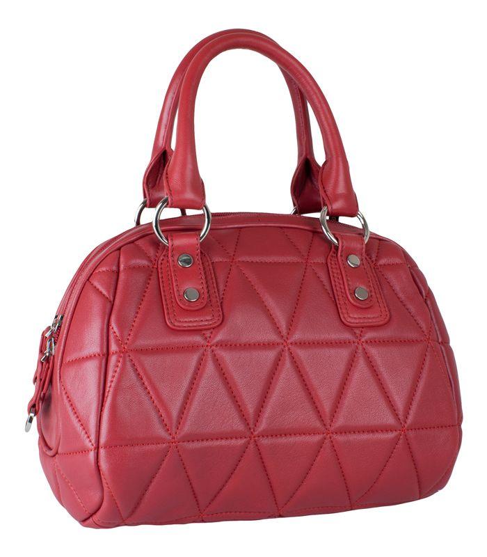 Женская сумка Palio выполнена из натуральной матовой кожи темно-красного...
