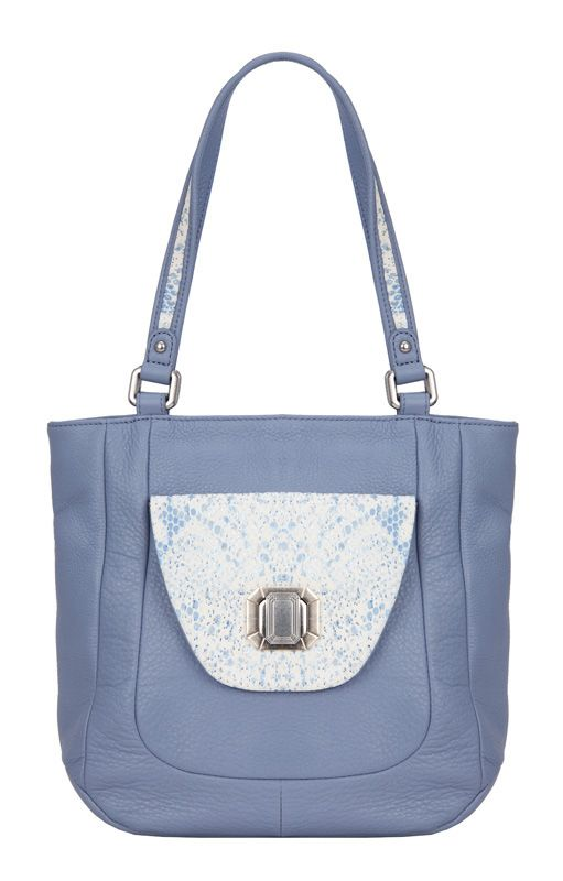 Женская сумка Palio выполнена из натуральной кожи пыльно-синего цвета.