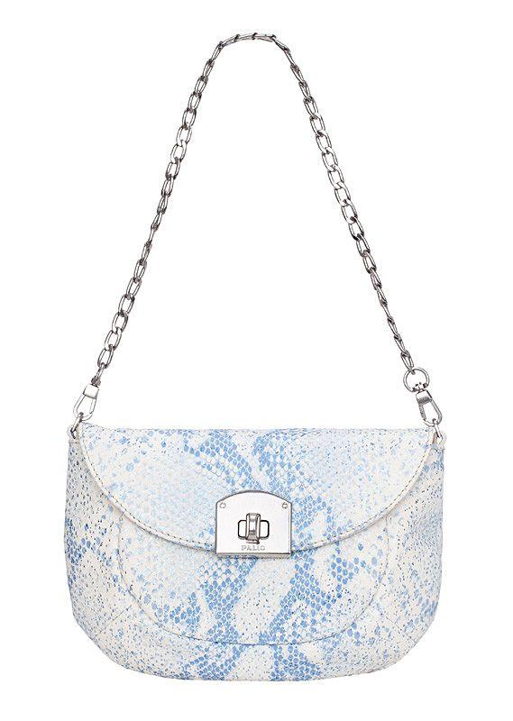 Женская сумка торговой марки Palio выполнена из натуральной кожи белого...