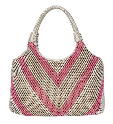 Женская сумка FELICITA из искусственной кожи серебристого - розового...