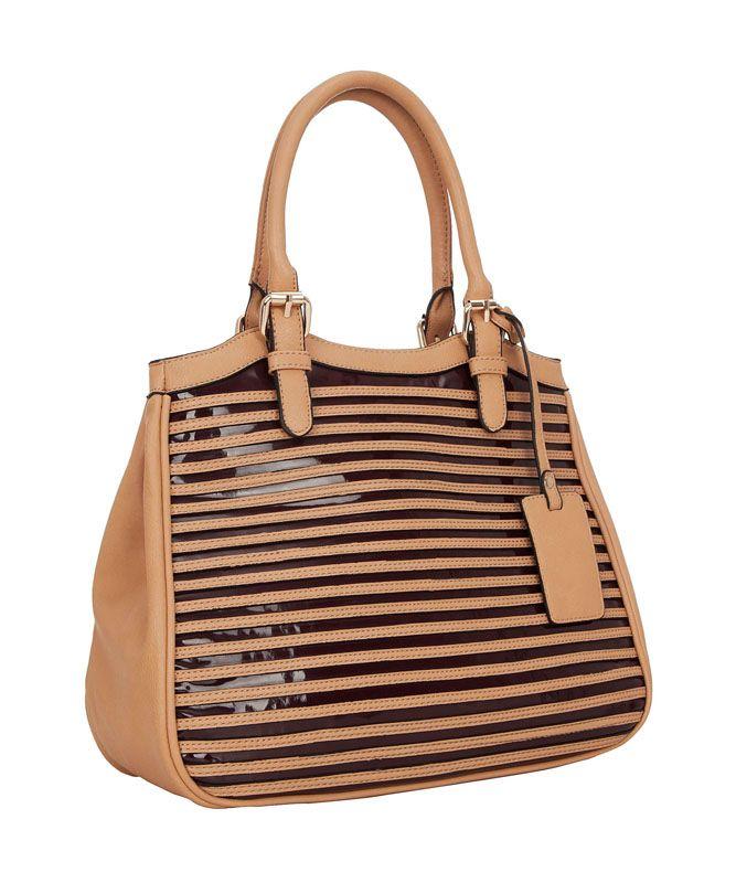 Женская сумка FELICITA из искусственной кожи светло-коричневого цвета.