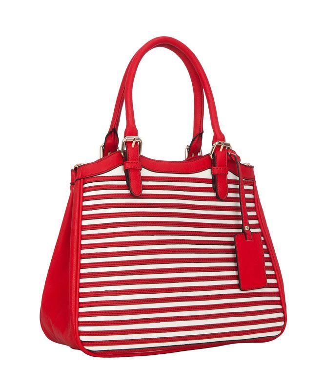 Женская сумка FELICITA из искусственной кожи красного цвета.