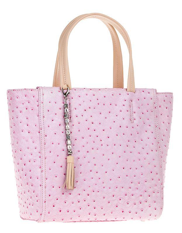 Женская сумка ELEGANZZA выполнена из натуральной кожи розово-фиолетового...