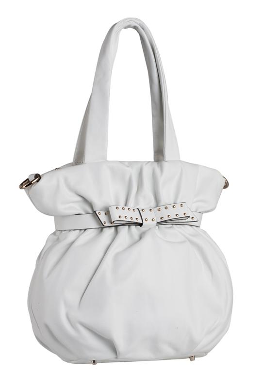 Женская сумка Eleganzza из натуральной кожи белого цвета.