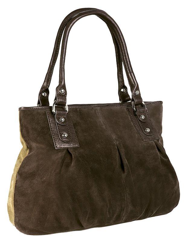 Женская сумка PALIO из натуральной замши коричневого цвета (на передней...