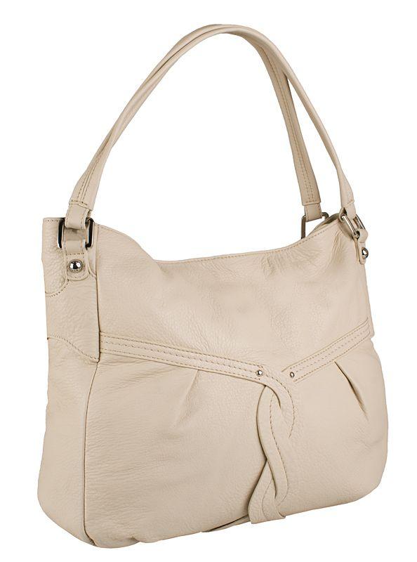 Женская сумка Palio выполнена из натуральной матовой кожи бежевого цвета.