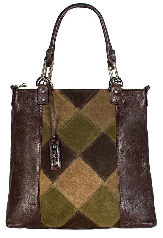 Женская сумка Palio выполнена из натуральной кожи темно-коричневого...