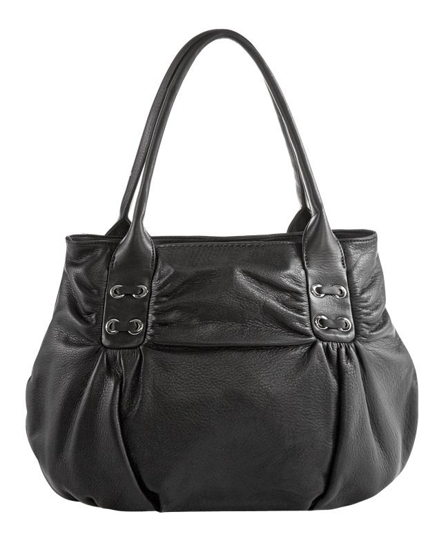 Женская сумка ELEGANZZA выполнена из натуральной матовой кожи черного...