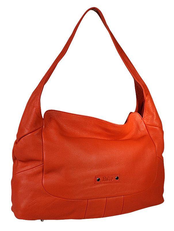 Женская сумка Palio выполнена из натуральной кожи оранжевого цвета.