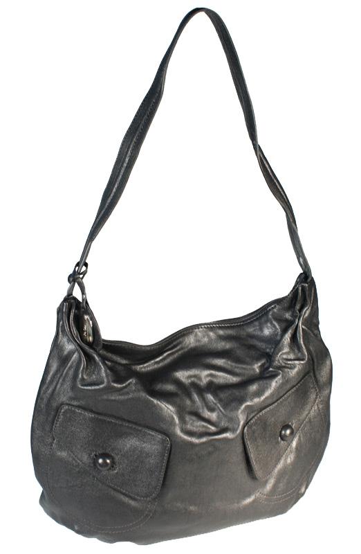 Женская сумка торговой марки Palio из натуральной кожи черного цвета.