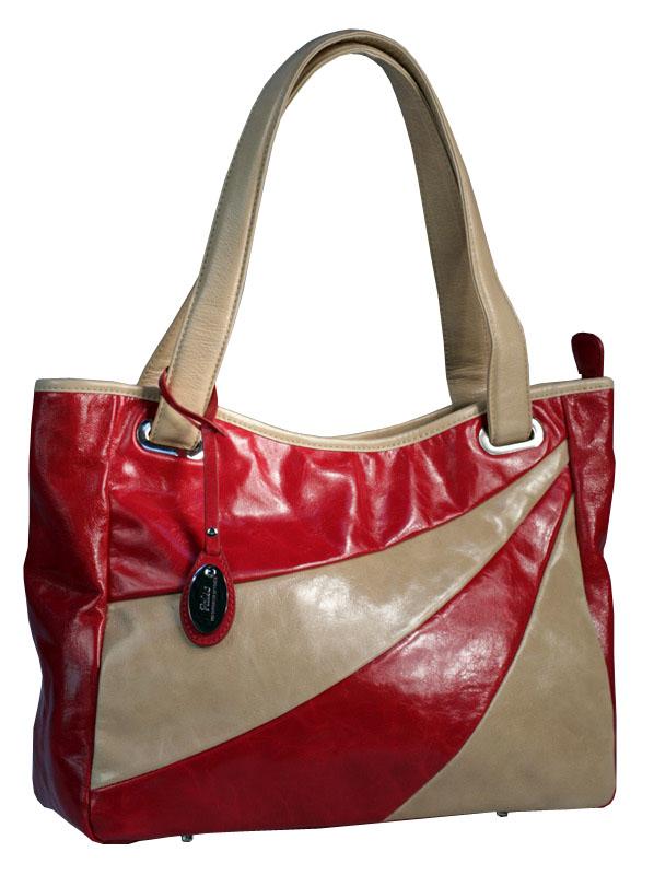 Женская сумка Palio из натуральной кожи бежевого цвета.