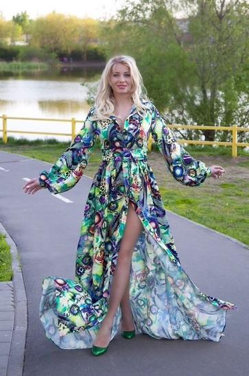 ee8f6a09be8 Купить Летние платья с длинным рукавом в интернет магазине ElitDress.ru