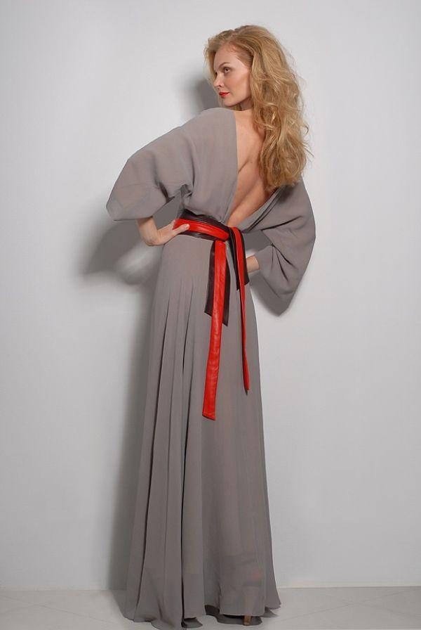 Сшить платье длинное с поясом