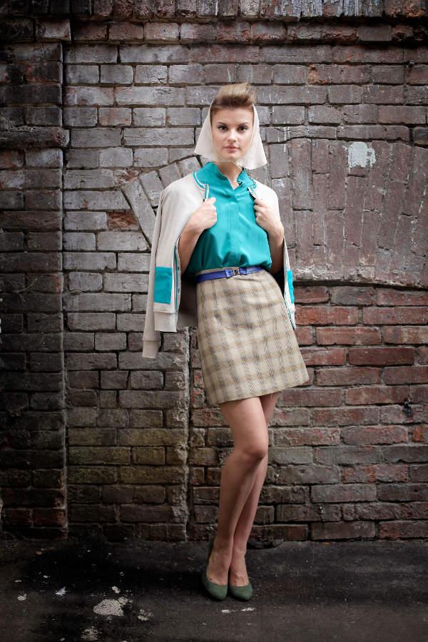 принтом | Блузка шелковая | Блузка