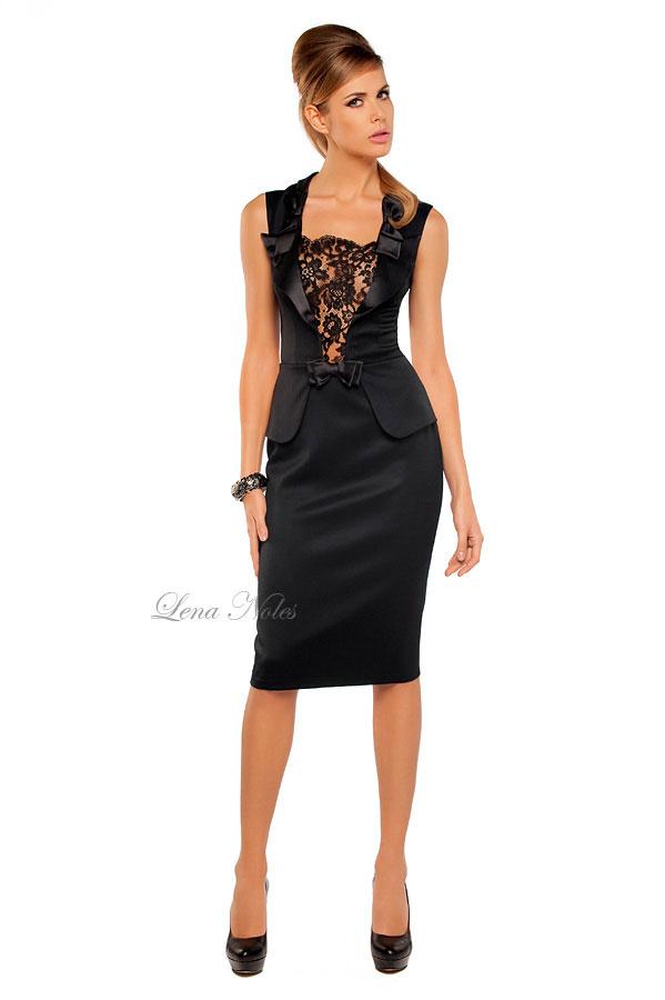 Вечерние платья коктейльное черное