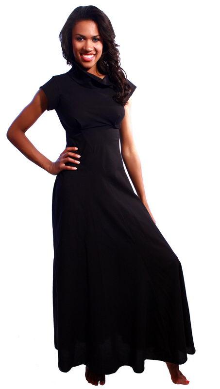... b платья /b- b Черное /b хлопковое платье в пол.